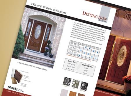 Graphic Design for Distinction Doors, New Jersey