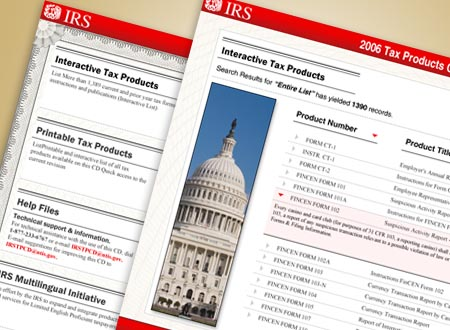 Graphic Design for Internal Revenue Service(IRS), Washington DC