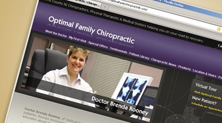 Web Design for Optimal Family Chiropractic, New Jersey
