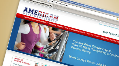 Web Design for American Health and Wellness, New Jersey